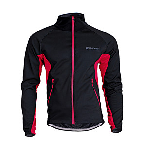 cheap Softshell, Fleece & Hiking Jackets-Nuckily Men's Women's Cycling Jacket Bike Jersey Top Thermal / Warm Windproof Breathable Sports Polyester Fleece Winter Black / Red / Black / Green / Black / Blue Mountain Bike MTB Road Bike Cycling