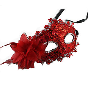 cheap Halloween & Carnival Costumes-Mask Masquerade Mask Carnival Mask Inspired by Carnival Venetian Black Brown Halloween Carnival New Year Adults' Women's Female