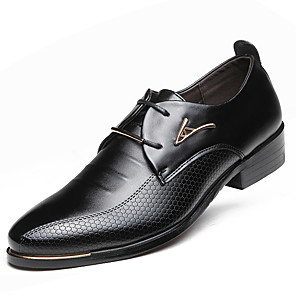 cheap Men's Oxfords-Men's Formal Shoes Comfort Shoes Fashion Boots Spring / Fall Business Casual Party & Evening Outdoor Oxfords Faux Leather Waterproof Breathability Antistatic Black / Brown / Lace-up / EU40