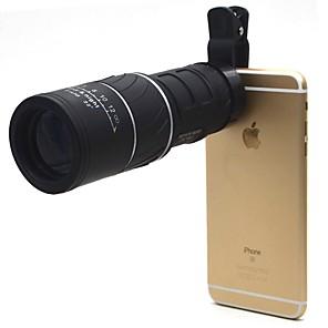 cheap Binoculars, Monoculars & Telescopes-16 X 52 mm Monocular Roof Fogproof Generic Carrying Case Multi-coated BAK4 Hunting Camping / Hiking / Caving Outdoor Rubber