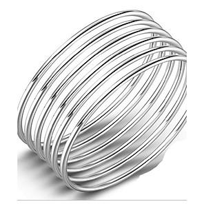 cheap Bracelets-Women's Bracelet Bangles Ladies Natural Sterling Silver Bracelet Jewelry Silver For Birthday Gift Valentine
