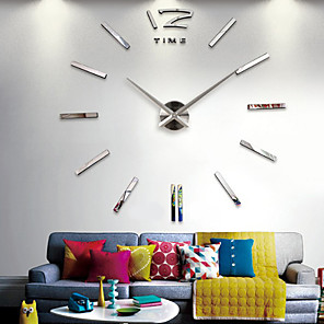 cheap Abstract Paintings-Wall Clock Quartz Watch Large Decorative Clocks Europe Acrylic Stickers Living Room