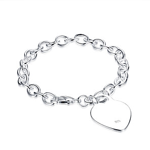 cheap LED String Lights-Women's Cubic Zirconia Chain Bracelet Love Ladies Cubic Zirconia Bracelet Jewelry Silver For Birthday Gift Daily / Silver Plated