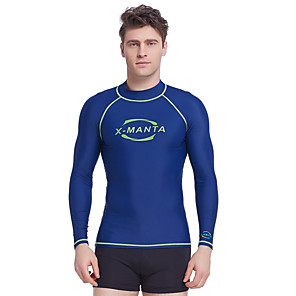 cheap Wetsuits, Diving Suits & Rash Guard Shirts-Dive&Sail Men's Rash Guard Elastane Sun Shirt Swim Shirt Thermal / Warm Waterproof UV Sun Protection Long Sleeve Swimming Diving Surfing Spring Summer Fall / Breathable / Quick Dry / Stretchy
