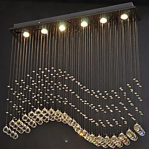 "cheap Ceiling Lights-6-Light 20(7.9"") Crystal / LED Pendant Light Metal Crystal Electroplated Modern Contemporary 110-120V / 220-240V"