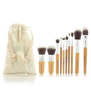 cheap Makeup Brush Sets-Professional Makeup Brushes Makeup Brush Set 11pcs Portable Travel Eco-friendly Professional Full Coverage Hypoallergenic Limits Bacteria Synthetic Hair / Artificial Fibre Brush Wood for Blush Brush
