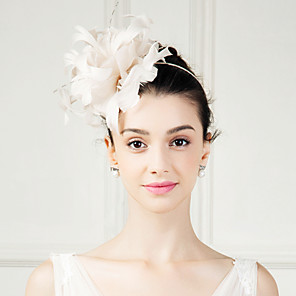 cheap Historical & Vintage Costumes-Feather Fascinators Flowers Headpiece Classical Feminine Style