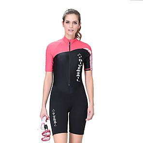 cheap Wetsuits, Diving Suits & Rash Guard Shirts-Dive&Sail Women's Shorty Wetsuit 1.5mm Elastane Shorts Swimwear Diving Suit Thermal / Warm Waterproof UV Sun Protection Short Sleeve Swimming Diving Surfing / Breathable / Quick Dry / Breathable