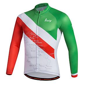 cheap Cycling Jerseys-Miloto Men's Long Sleeve Cycling Jersey Stripes Bike Shirt Sweatshirt Jersey Mountain Bike MTB Road Bike Cycling Breathable Quick Dry Reflective Strips Sports 100% Polyester Clothing Apparel