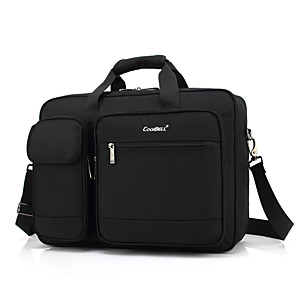 """cheap Laptop Bags & Backpacks-Coolbell 15"""" Laptop Shoulder Messenger Bag Textile Solid Color for Business Office for Colleages & Schools Unisex Water Proof Shock Proof"""