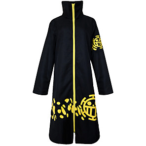 cheap Anime Costumes-Inspired by One Piece Trafalgar Law Anime Cosplay Costumes Japanese Cosplay Suits Vintage Long Sleeve Cloak For Men's Women's