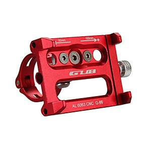 cheap Mounts & Holders-GUB® Bike Phone Mount Adjustable Anti-Slip For Cellphone for Mountain Bike MTB Motorcycle Aluminum Alloy CNC iPhone X iPhone XS iPhone XR Cycling Bicycle Red Silver Black