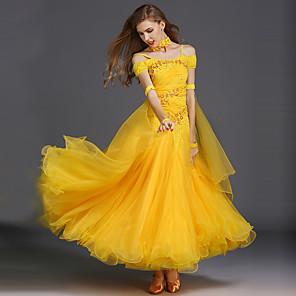 cheap Ballroom Dancewear-Ballroom Dance Women's Training Sleeveless Spandex Tulle / Modern Dance / Performance