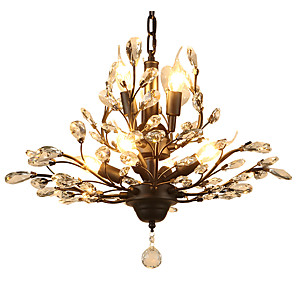 cheap Candle-Style Design-LightMyself™ 7-Light 62 cm Crystal / LED Chandelier Metal Painted Finishes Modern Contemporary 110-120V / 220-240V