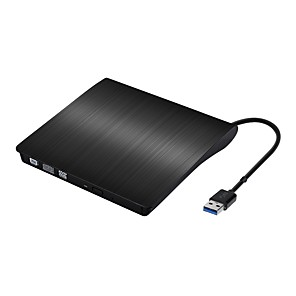cheap Audio Cables-USB3.0 External POP-UP Mobile External DVD-RW Optical Drive Slim Case Reader Player Burner Recorder External ODD HDD Device for Windows IOS