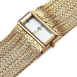 cheap Bracelet Watches-ASJ Women's Bracelet Watch Gold Watch Square Watch Quartz Ladies Water Resistant / Waterproof Copper Silver Analog - Golden Silver One Year Battery Life / Japanese / Shock Resistant / Japanese
