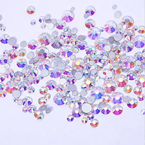 cheap Rhinestone & Decorations-500pcs mix sizes ab color intrigue rhinestone makeup cosmetic nail art design