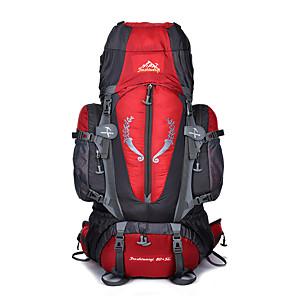 cheap Backpacks & Bags-85 L Hiking Backpack Rucksack Multifunctional Waterproof Wear Resistance Outdoor Camping / Hiking Ski / Snowboard Fishing Nylon Black Blue Red / Yes