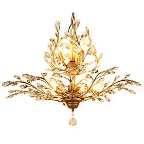 cheap Candle-Style Design-LightMyself™ 8-Light 78 cm Crystal / LED Pendant Light Metal Crystal Antique Brass Modern Contemporary 110-120V / 220-240V