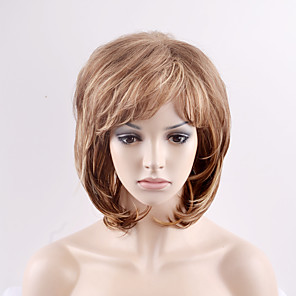 cheap Synthetic Trendy Wigs-Synthetic Wig Natural Wave Natural Wave Wig Blonde Short Blonde Synthetic Hair Women's Blonde