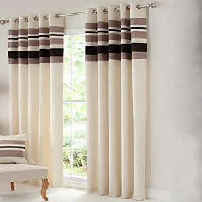 cheap Curtains Drapes-Country Curtains® Room Darkening Polyester Linen with Pleated Band lined Curtain Two Panel