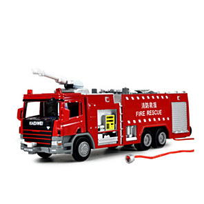 cheap Building Blocks-KDW 1:10 Toy Car Diecast Vehicle Pull Back Vehicle Train Car Fire Engine Train Farm Vehicle Fire Engine Vehicle Thick Novelty Metal Alloy Plastic Metal Mini Car Vehicles Toys for Party Favor or Kids