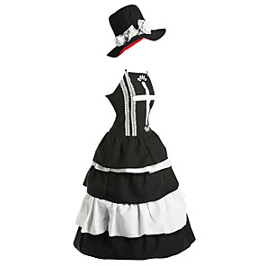 cheap Anime Costumes-Inspired by One Piece Perona Anime Cosplay Costumes Japanese Cosplay Suits Dresses Vintage Sleeveless Dress Hat For Women's