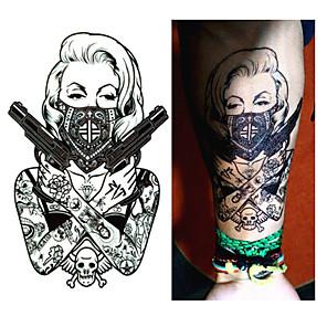 cheap Tattoo Stickers-1-pcs-new-design-cool-tattoo-girl--19x12cm-waterproof-temporary-tattoo-stickers