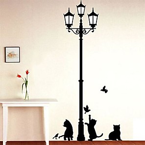 cheap Wall Stickers-Animals / Fashion / Leisure Wall Stickers Plane Wall Stickers Decorative Wall Stickers, Vinyl Home Decoration Wall Decal Wall Decoration 1
