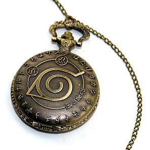cheap Anime Costumes-Pocket Watch Inspired by Naruto Naruto Uzumaki Anime Cosplay Accessories Alloy Halloween Costumes