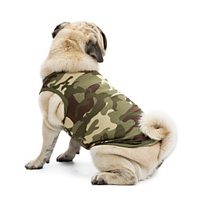 cheap Dog Clothes-Cat Dog Shirt / T-Shirt Sweater Sweatshirt Camo / Camouflage Classic Holiday Casual / Daily Dog Clothes Black Blue Pink Costume Terylene Cotton XS S M L