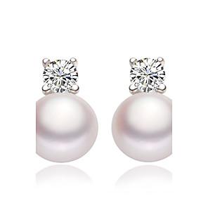 cheap Earrings-Women's Stud Earrings Drop Earrings Elegant Imitation Pearl Earrings Jewelry White For Wedding Party Daily Casual 1pc