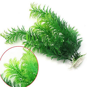 cheap Aquarium Décor & Gravel-Fish Tank Aquarium Decoration Artificial Plants Hornwort Anacharis Fish Bowl Waterplant Artificial Plants Green Artificial Plastic 1 pc 30 cm