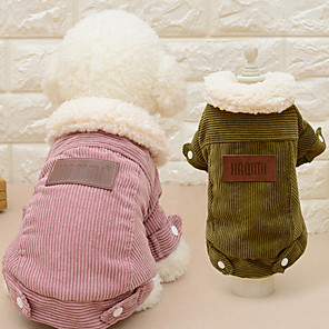 cheap Indoor IP Network Cameras-Cat Dog Coat Solid Colored Casual / Daily Fashion Outdoor Winter Dog Clothes Pink Coffee Costume Plush Fabric S M L XL
