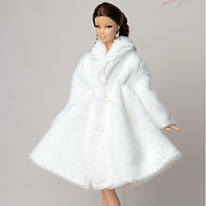 cheap Dolls Accessories-Doll accessories Doll Clothes Doll Dress Wedding Dress Party / Evening Casual Wedding Ball Gown Tulle Lace Polyester Polar Fleece For 11.5 Inch Doll Handmade Toy for Girl's Birthday Gifts  Doll Not
