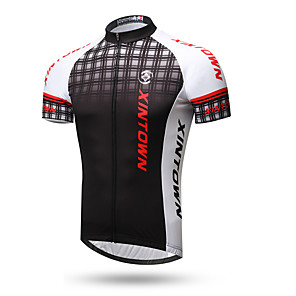 cheap Cycling Jerseys-XINTOWN Men's Short Sleeve Cycling Jersey 1# 2# 3# Plaid / Checkered Bike Top Mountain Bike MTB Road Bike Cycling Breathable Quick Dry Back Pocket Sports Clothing Apparel / Stretchy / Sweat-wicking
