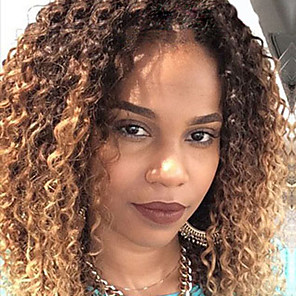 cheap Human Hair Wigs-two tone ombre t1b 27 lace front human hair wigs kinky curly hair 130 density brazilian virgin hair glueless lace front wigs for black woman