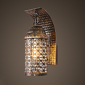 cheap Indoor Wall Lights-Rustic / Lodge Wall Lamps & Sconces Metal Wall Light 110-120V / 220-240V