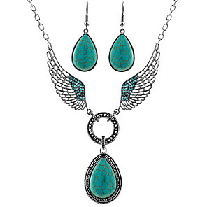 cheap Jewelry Sets-Turquoise Jewelry Set Basic Earrings Jewelry Green For Daily