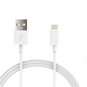 cheap Cell Phone Cables-USB 2.0 / Lightning Cables / Cable 1m-1.99m / 3ft-6ft Normal Plastic / PVC(PolyVinyl Chloride) USB Cable Adapter For iPad / Apple / iPhone
