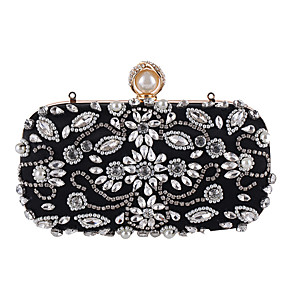 cheap Clutches & Evening Bags-Women's Crystal / Rhinestone Polyester Evening Bag Black / Almond