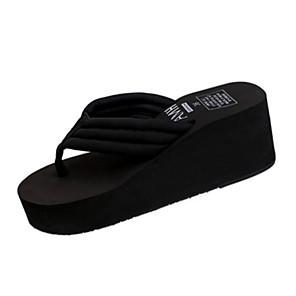 cheap Wall Stickers-Women's Slippers & Flip-Flops Flat Heel Round Toe Outdoor Beach Gore PU Summer Black / EU39