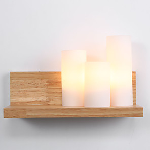 cheap Indoor Wall Lights-Ecolight™ Country Wall Lamps & Sconces Wood / Bamboo Wall Light 110-120V / 220-240V 60W