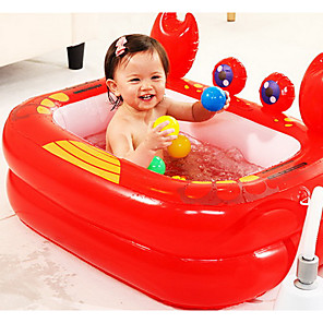 cheap Inflatable Ride-ons & Pool Floats-Kiddie Pool Paddling Pool Inflatable Pool Intex Pool Inflatable Swimming Pool Kids Pool Water Pool for Kids Fun Novelty Silica Gel Plastic Summer Swimming 1 pcs Kid's Adults Kids Adults'