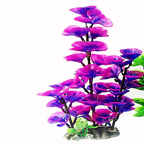 cheap Aquarium Décor & Gravel-Fish Tank Aquarium Decoration Waterplant Artificial Plants Purple Non-toxic & Tasteless Plastic