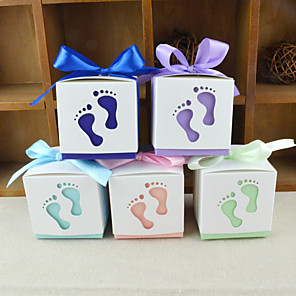 cheap Favor Holders-Creative Cubic Card Paper Favor Holder with Pattern Favor Boxes - 12