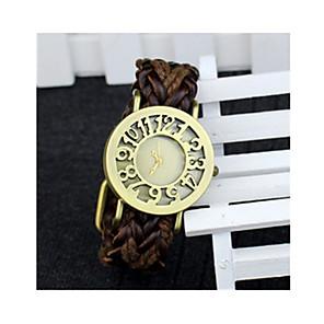 cheap Smartwatches-Men's Sport Watch Quartz 30 m Leather Band Analog-Digital Vintage Black / Orange / Brown - Black Orange Brown