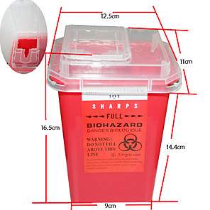 cheap Tattoo Transfers & Supplies-professional-tattoo-sharps-needles-disposal-red-container-for-tattoo-artists-tc234