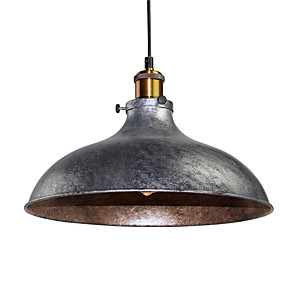 cheap Indoor Wall Lights-Vintage Pendant Lights Industrial 1-Light Silver Gray Metal Dining Room Hallway Cafe Bars Clothing Store Lighting