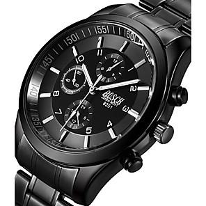 34c98240de8 BOSCK Homens Relógio Militar Relógio de Pulso Quartzo Aço Inoxidável Preta  50 m Luminoso Noctilucente Legal